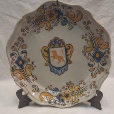 Antigüedades: PLATO DE TALAVERA FIRMADO RUIZ DE LUNA. Lote 287317168