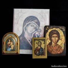 Oggetti Antichi: CONJUNTO DE ICONOS RELIGIOSOS.. Lote 287319898