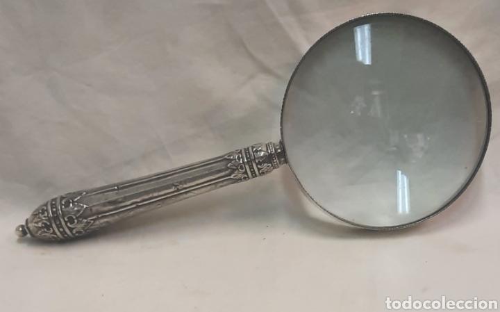 ANTIGUA LUPA DEL SIGLO XIX EN PLATA (Antigüedades - Platería - Plata de Ley Antigua)