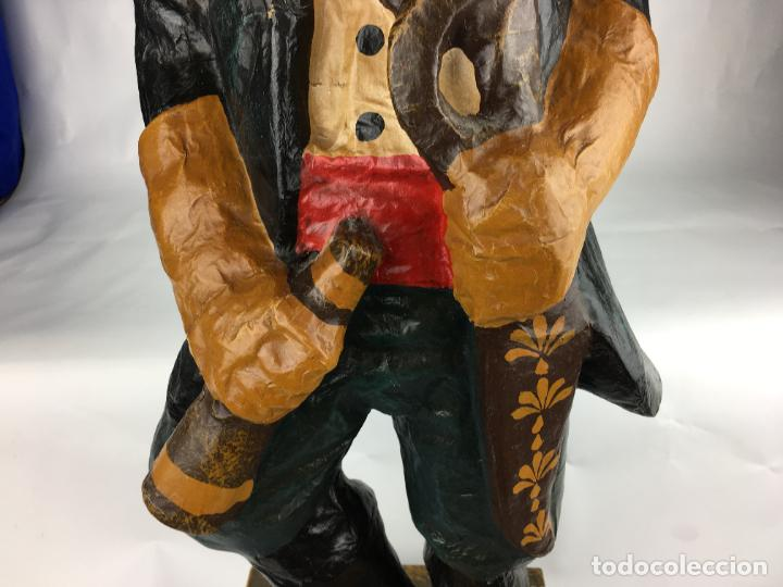 Antigüedades: antigua pirata gran figura de carton piedra - Foto 3 - 287361023