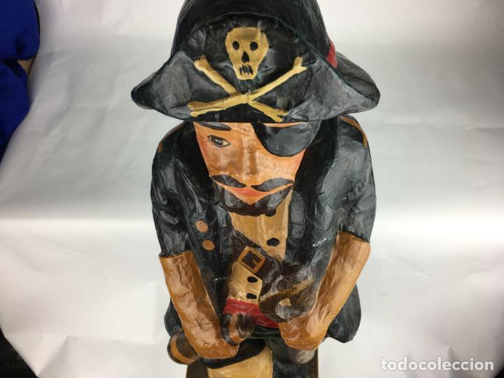 Antigüedades: antigua pirata gran figura de carton piedra - Foto 6 - 287361023