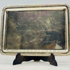 Oggetti Antichi: BANDEJA PLATEADA. Lote 287371503