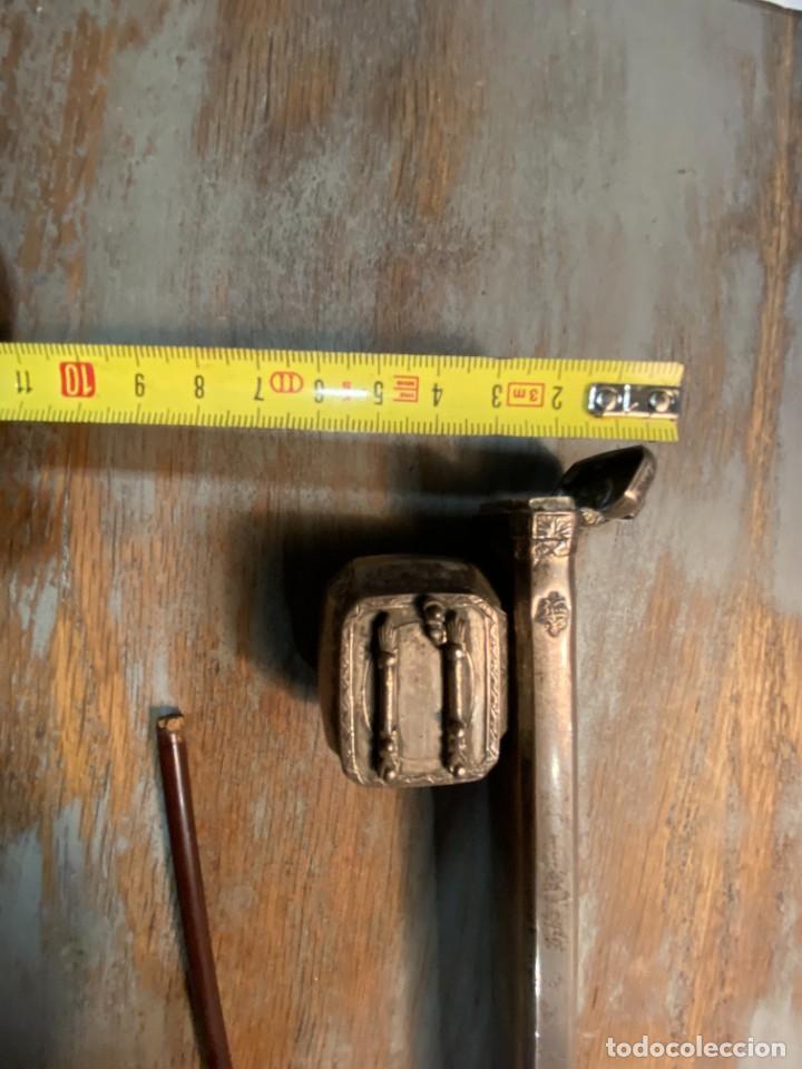 Antigüedades: ESCRIBANIA CHINA DE PLATA SIGLO XIX CON SELLOS - Foto 4 - 287372193