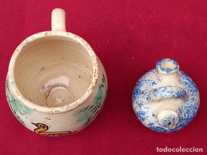 Antigüedades: JARRA Y BOTIJO PEQUEÑOS EN CERAMICA DE PUENTE DEL ARZOBISPO ( TOLEDO ) - Foto 5 - 287372873