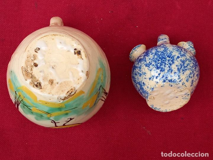 Antigüedades: JARRA Y BOTIJO PEQUEÑOS EN CERAMICA DE PUENTE DEL ARZOBISPO ( TOLEDO ) - Foto 6 - 287372873