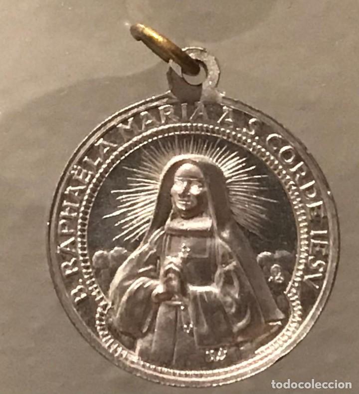 ANTIGUA MEDALLA DE ALUMINIO DE B.RAPHAELA MARIA AS. CORDE IESV (Antigüedades - Religiosas - Medallas Antiguas)