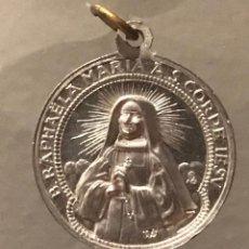 Antigüedades: ANTIGUA MEDALLA DE ALUMINIO DE B.RAPHAELA MARIA AS. CORDE IESV. Lote 287374063