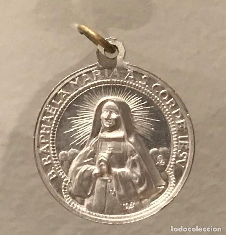 Antigüedades: ANTIGUA MEDALLA DE ALUMINIO DE B.RAPHAELA MARIA AS. CORDE IESV - Foto 3 - 287374063