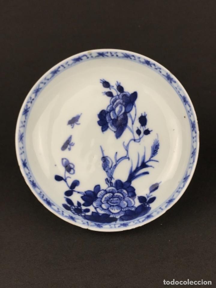 PEQUEÑO PLATO DE PORCELANA CHINA DEL SIGLO XVIII. (Antigüedades - Porcelanas y Cerámicas - China)