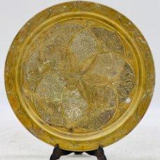 Antiguidades: PLATO DE RELIEVES DORADO. Lote 287383898
