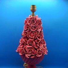 Oggetti Antichi: LAMPARA DE MANISES ROSA. Lote 287385888