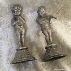 Antigüedades: FIGURAS NIÑOS DE ESTAÑO 8 CM. Lote 287442803