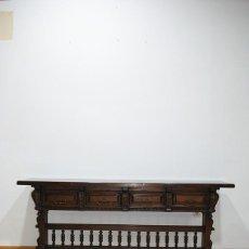 Antigüedades: CONSOLA ANTIGUA CASTELLANA MADERA DE NOGAL. Lote 287454193