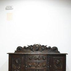 Antigüedades: APARADOR ANTIGUO TALLADO ESTILO RENACIMIENTO ESPAÑOL. Lote 287456978