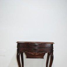 Antigüedades: COSTURERO ANTIGUO ISABELINO MADERA DE CAOBA. Lote 287459843