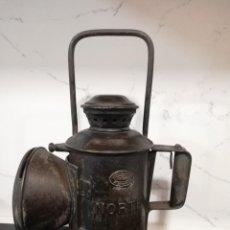 Antiquités: ANTIGUO FAROL DE JEFE DE ESTACION, FERROCARRIL, LUIS CASAJUANA, CONSTRUCTOR BILBAO, NORTE, CONTIENE. Lote 287462108