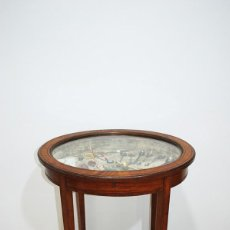 Antigüedades: MESITA EXPOSITORA DE MADERA. Lote 287462228