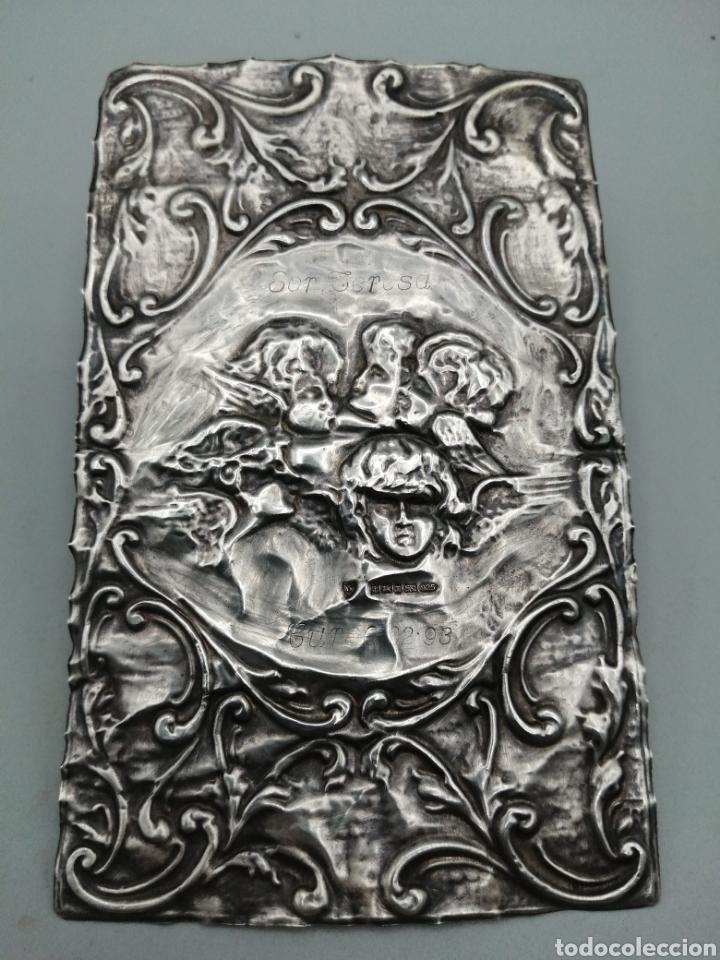 QUERUBINES. RELIEVE EN PLATA DE LEY. BIRMINGHAM, REINO UNIDO (Antigüedades - Platería - Plata de Ley Antigua)