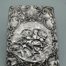 Antigüedades: QUERUBINES. RELIEVE EN PLATA DE LEY. BIRMINGHAM, REINO UNIDO. Lote 287462253