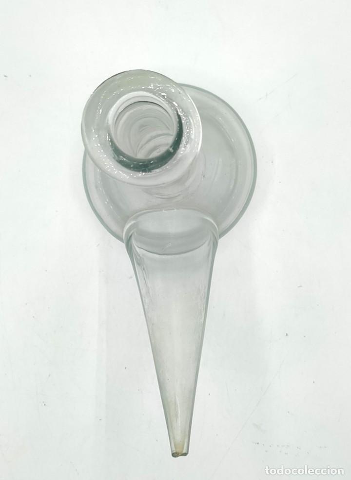 Antigüedades: Dos porrones en cristal soplado catalán, de finales del siglo XIX. - Foto 5 - 287495078