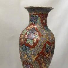 Antiguidades: JARRÓN DE CERAMICA CHINA ESMALTADA. Lote 287495858