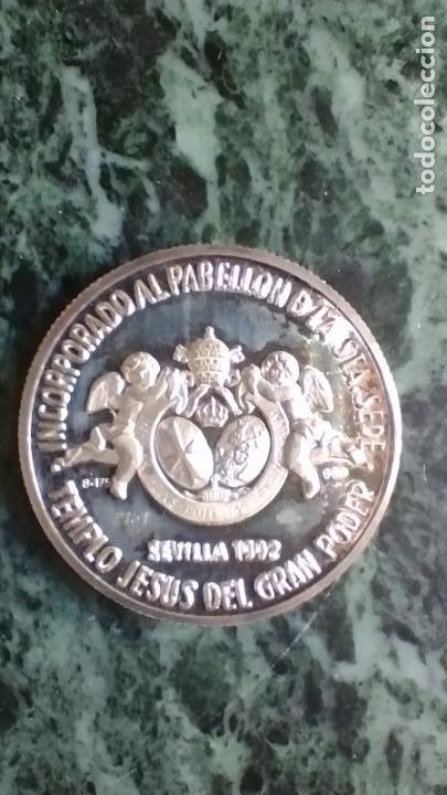 Antigüedades: Moneda conmemorativa plata 999 Nuestro Padre Jesús del Gran Poder - Foto 2 - 287548038