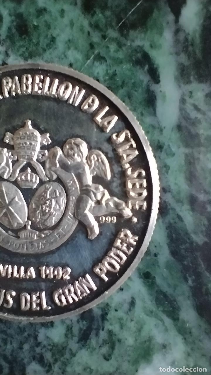 Antigüedades: Moneda conmemorativa plata 999 Nuestro Padre Jesús del Gran Poder - Foto 4 - 287548038