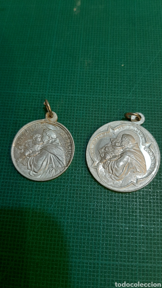 MEDALLAS VINTAGE SAN ANTONIO PADUA RECUERDO PP.FRANCISCANOS (Antigüedades - Religiosas - Medallas Antiguas)