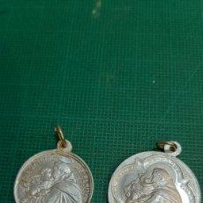 Antigüedades: MEDALLAS VINTAGE SAN ANTONIO PADUA RECUERDO PP.FRANCISCANOS. Lote 287565218