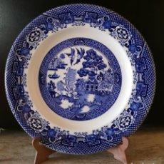 Antigüedades: PRECIOSO PLATO, WILLOW, WOODS WARE, WOOD AND SON, ENGLAND. Lote 287570603