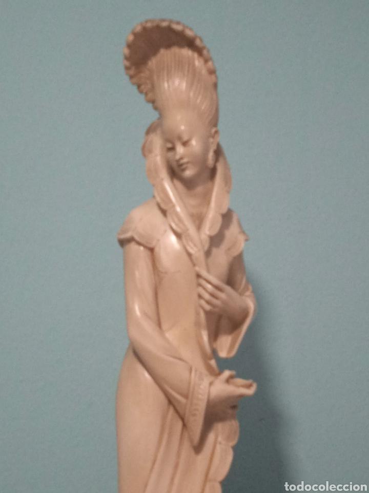 Antigüedades: Antigua figura china está aen buen estado ver fotos altura 38cm - Foto 6 - 287585468