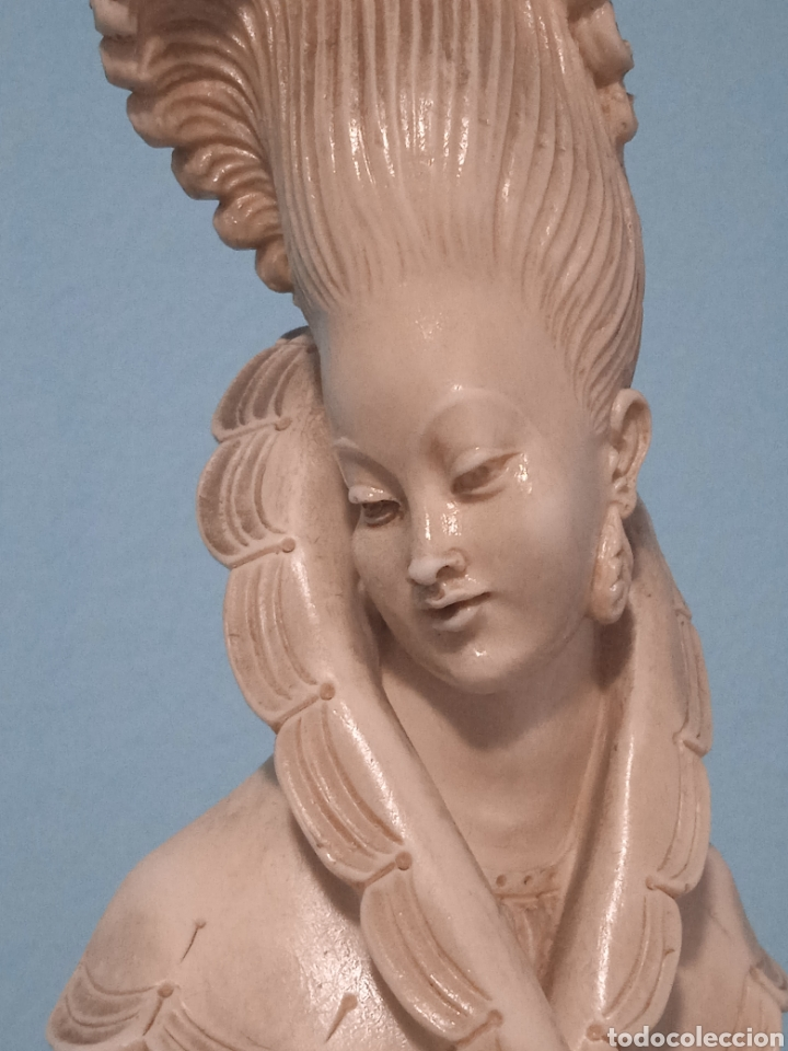 Antigüedades: Antigua figura china está aen buen estado ver fotos altura 38cm - Foto 7 - 287585468