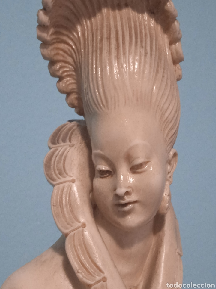 Antigüedades: Antigua figura china está aen buen estado ver fotos altura 38cm - Foto 9 - 287585468
