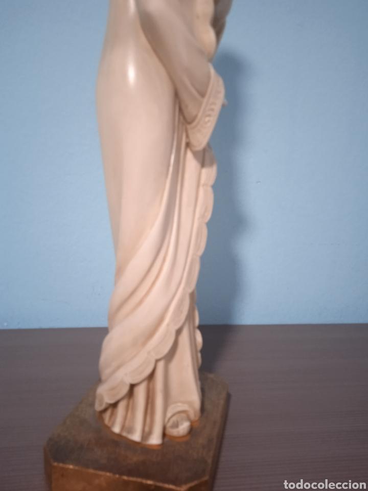 Antigüedades: Antigua figura china está aen buen estado ver fotos altura 38cm - Foto 10 - 287585468