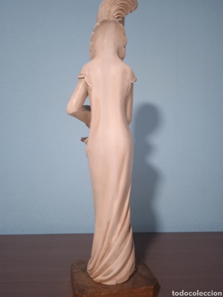 Antigüedades: Antigua figura china está aen buen estado ver fotos altura 38cm - Foto 11 - 287585468