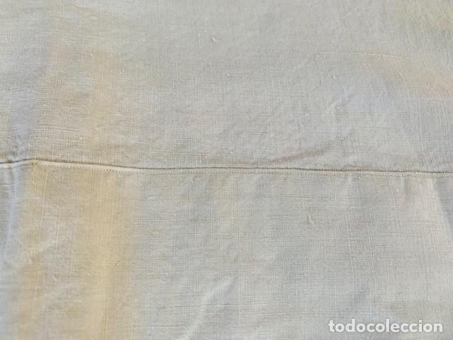 Antigüedades: ANTIGUO Y PRECIOSO JUEGO DE SABANAS DE LINO BORDADAS A MANO CON INCIALES Y PRECIOSO ENCAJE BOLILLOS - Foto 12 - 287623323