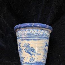 Antiquités: 2. MACETA DE TALAVERA RUIZ DE LUNA CON DEFECTOS RESEÑADOS EN FOTO.. Lote 287644648