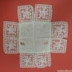 Antigüedades: PAÑUELO ANTIGUO BORDADO. FALTAS. Lote 287676748