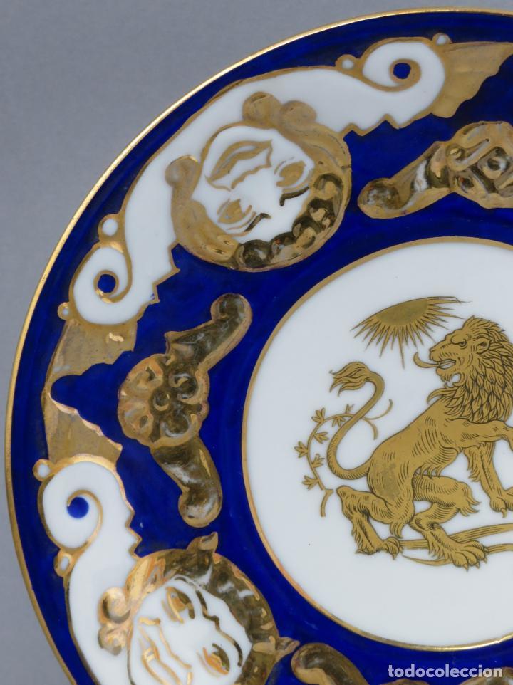 Antigüedades: Plato serie horoscopo Leo porcelana Castro Sargadelos diseño de Isaac Díaz Pardo mediados siglo XX - Foto 3 - 287682158