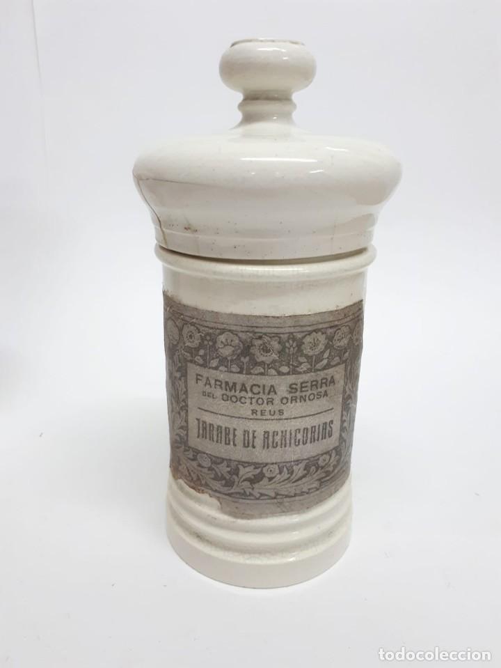 Antigüedades: ANTIGUO CONJUNTO DE BOTES DE FARMACIA O ALBARELOS - Foto 6 - 287682373
