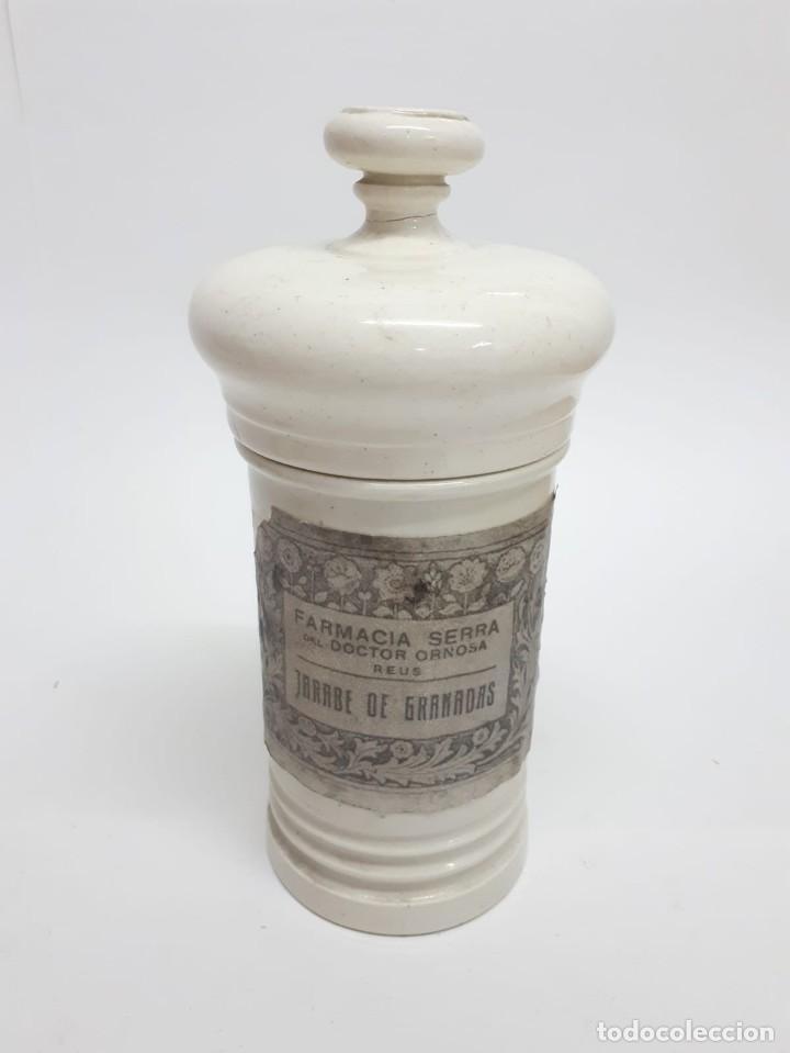Antigüedades: ANTIGUO CONJUNTO DE BOTES DE FARMACIA O ALBARELOS - Foto 9 - 287682373