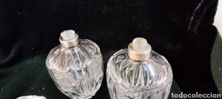 Antigüedades: Conjunto de tocador, plata y cristal de bohemia - Foto 2 - 287682428