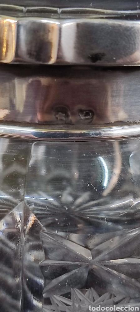 Antigüedades: Conjunto de tocador, plata y cristal de bohemia - Foto 3 - 287682428