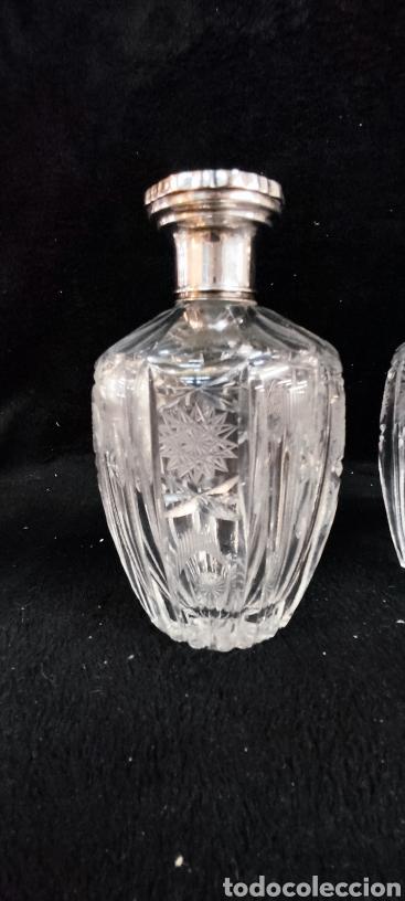 Antigüedades: Conjunto de tocador, plata y cristal de bohemia - Foto 4 - 287682428