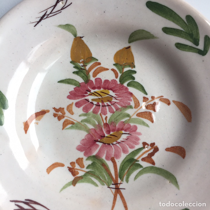 Antigüedades: Plato de cerámica Lario pintado a mano - Foto 2 - 287689068