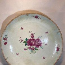 Antiquités: PALTO DE PORCELANA. FAMILIA ROSA. COMPAÑÍAS DE INDIAS. CHINA. SIGLO XVIII.. Lote 287694718