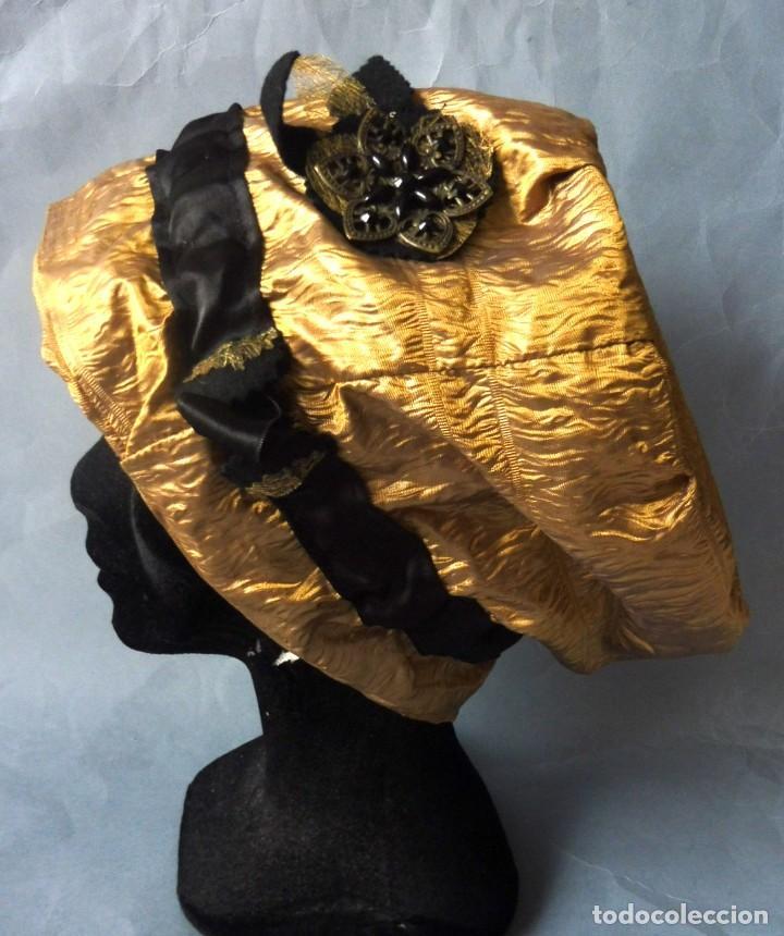 ANTIGUO GORRO DE ENCAJE S. XIX (Antigüedades - Moda - Sombreros Antiguos)