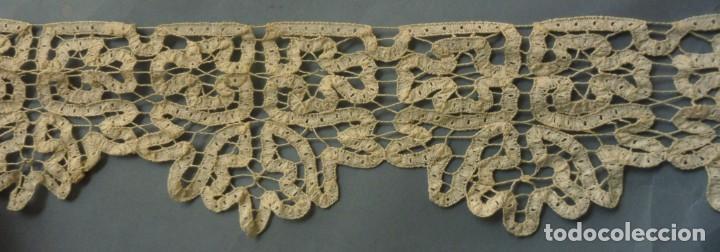 Antigüedades: ANTIGUO ENCAJE DE CINTAS S.XIX - Foto 5 - 287741458