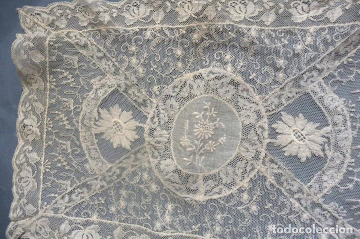 Antigüedades: ANTIGUO TAPETE DE ENCAJE DE NORMANDÍA S.XIX - Foto 6 - 287751418
