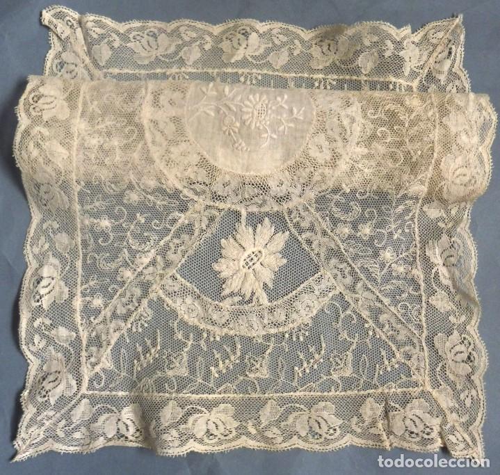 Antigüedades: ANTIGUO TAPETE DE ENCAJE DE NORMANDÍA S.XIX - Foto 8 - 287751418